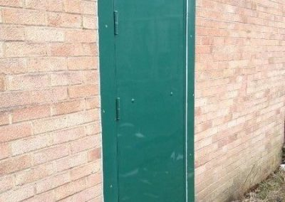Green Steel Door With Plates