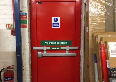 Plumbase Fire Exit Steel Door