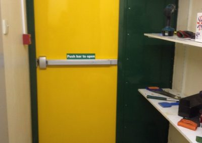 Travis Perkins Fire Exit Steel Door