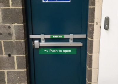 Fire Exit Door With Drop Bar