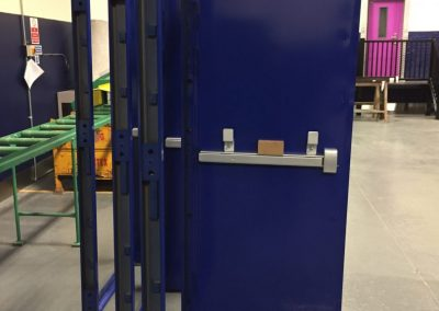 Blue Fire Exit Steel Doors