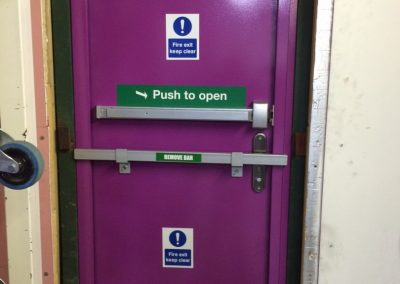 Fire Exit door in Islington