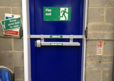 Fire Exit With Drop Bar